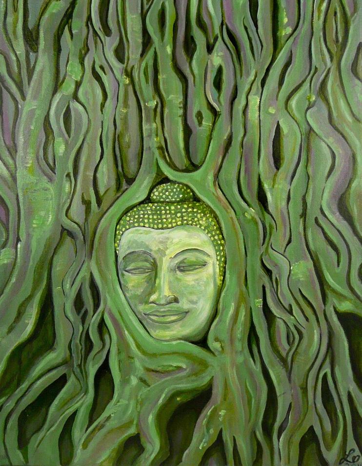 buddha tree acryllic on canvas £165.00