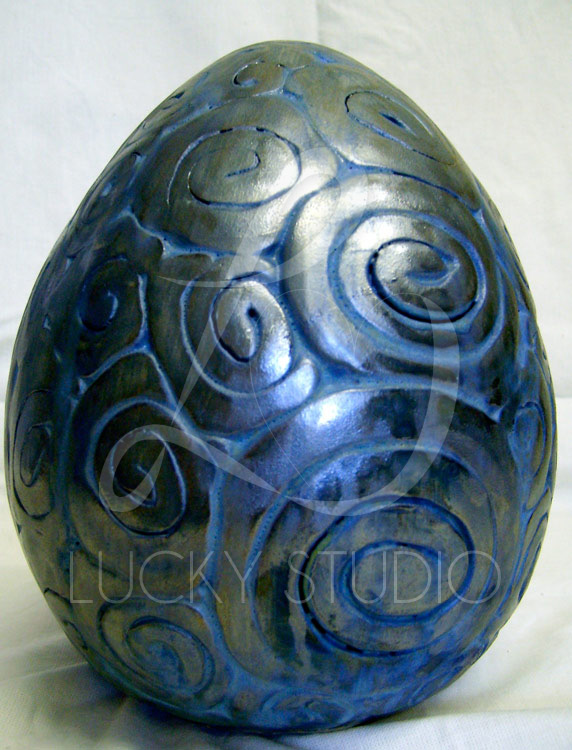 Dragon Egg with Pattern Sculpture -Lucky Studio